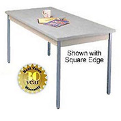 "Utility Table - 36""W X 72""L - Gray with Radius Edge"