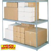 "Wide Span Rack 96""W x 36""D x 96""H With 3 Shelves Wire Deck 800 Lb Capacity Per Level"