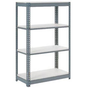 "Extra Heavy Duty Shelving 36""W x 18""D x 60""H With 4 Shelves, 1500 lbs. Capacity Per Shelf, Gray"