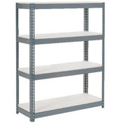 "Extra Heavy Duty Shelving 48""W x 12""D x 60""H With 4 Shelves, 1500 lbs. Capacity Per Shelf, Gray"