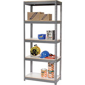 "Extra Heavy Duty Shelving 36""W x 18""D x 84""H With 5 Shelves, 1500 lbs. Capacity Per Shelf, Gray"