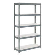 "Extra Heavy Duty Shelving 36""W x 24""D x 84""H With 5 Shelves, 1500 lbs. Capacity Per Shelf, Gray"
