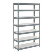 "Extra Heavy Duty Shelving 48""W x 18""D x 84""H With 7 Shelves, 1500 lbs. Capacity Per Shelf, Gray"