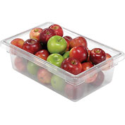 Rubbermaid 3309-00 Clear Plastic Box 3 1/2 Gallon 18 x12 x 6 - Pkg Qty 6