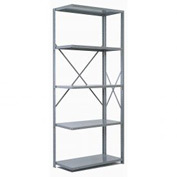 "Penco Steel Shelving 20 Ga 48""WX24""DX87""H Open Clip Style 5 Shelf Add-On"