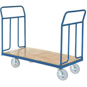 "Wood Deck Platform Truck 8"" Pneumatic Wheels 1200 Lb. Capacity"