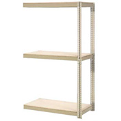 "Expandable Add-On Rack 48""W x 24""D x 84""H Tan With 3 Levels Wood Deck 1500lb Cap Per Level"