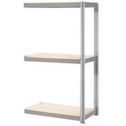 "Expandable Add-On Rack 48""W x 24""D x 84""H Gray With 3 Level Wood Deck 1500lb Cap Per Level"