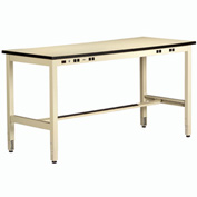 Plastic Top Electronic Workbench 30inch High 60x30 Sand