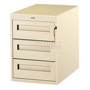 3 Utility Drawer Pedestal For 36 Inch Wide Tech Bench Sand