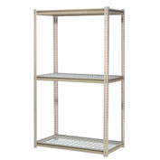 "High Capacity Starter Rack 60""W x 48""D x 84""H With 3 Levels Wire Deck 1300lb Cap Per Shelf"