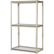 "High Capacity Starter Rack 96""W x 48""D x 84""H With 3 Levels Wire Deck 800lb Cap Per Shelf"