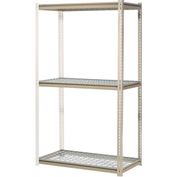 "High Capacity Add-On Rack 48""W x 24""D x 84""H With 3 Levels Wire Deck 1500 Lb Cap Per Level"
