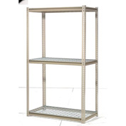 "High Capacity Starter Rack 48""W x 24""D x 96:H With 3 Levels Wire Deck 1500lb Cap Per Shelf"