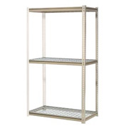 """High Capacity Add-On Rack 48""""W x 48""""D x 96""""H With 3 Levels Wire Deck 1500 Lb Cap Per Level"""