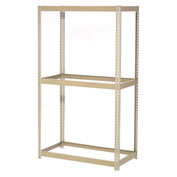 "Expandable Starter Rack 36""W x 12""D x 84""H Tan With 3 Levels No Deck 1500 Lb Cap Per Level"