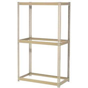 "Expandable Starter Rack 96""W x 24""D x 84""H Tan With 3 Levels No Deck 800 Cap Per Level"