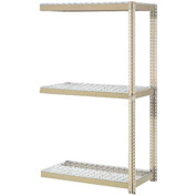 """Expandable Add-On Rack 72""""W x 48""""D x 84""""H Tan With 3 Levels Wire Deck 750lb Cap Per Level"""