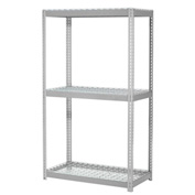 "Expandable Starter Rack 48""W x 24""D x 84""H Gray With 3 Level Wire Deck 1500lb Cap Per Deck"