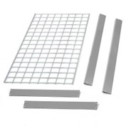 "Bulk Rack Shelf Wire Deck 48""W x 24""D Gray"