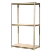 "High Capacity Starter Rack 72""W x 48""D x 96""H With 3 Levels Wood Deck 1000lb Cap Per Shelf"
