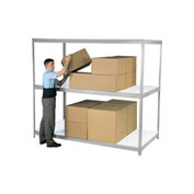"Wide Span Rack 48""W x 36""D x 60""H Gray With 3 Shelves Laminated Deck 1200 Lb Cap Per Level"