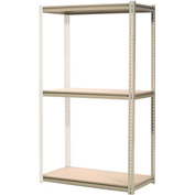 "High Capacity Add-On Rack 96""W x 48""D x 96""H With 3 Levels Wood Deck 800 Lb Cap Per Level"
