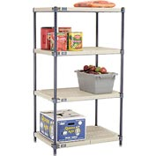 Vented Plastic Shelving 30x24x54 Nexelon Finish