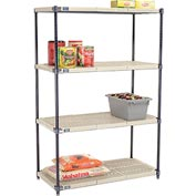Vented Plastic Shelving 42x18x63 Nexelon Finish