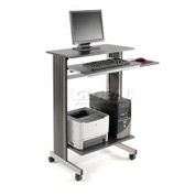 Sandusky Buddy Mobile Computer Workstation, Charcoal