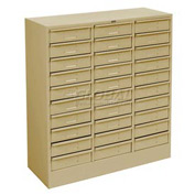 "Tennsco Drawer Cabint 3085 214 - 30 Drawer Legal Size, 30 5/8""W X 14-5/8""D X 33-7/16""H, Sand"