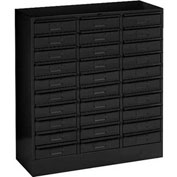 "Tennsco Drawer Cabint 3085 03 - 30 Drawer Legal Size, 30-5/8""W X 14-5/8""D X 33-7/16""H, Black"