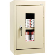 Sandusky Clear View Wall Cabinet WA1V161226 Single Door - 16x12x26, Putty