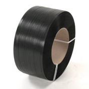"Polyester Strapping 1/2"" x .025"" x 5,800' Black 16"" x 6""Core"