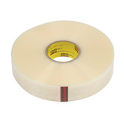 "3M Machine Length Carton Sealing Tape 371 2"" x 1000 Yds 1.9 Mil Clear - Pkg Qty 6"