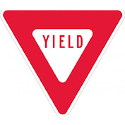 Aluminum Sign - Yield - .080mm Thick - Red/White