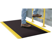 Supreme Sliptech Mat 11/16 Thick 3ft W Cut Length To 60ft Black W/Yellow Border