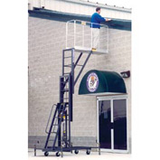 "One Person Lift 64""L x 20""W Cantilever Platform - Hydraulic Hand Pump Lift"