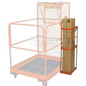 Fluorescent Bulb Caddy for Forklift Maintenance Platform