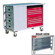 10 Drawer Service Bench 48x24x39
