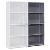"Steel Shelving 18 Ga 48""Wx18""Dx73""H Closed Clip Style 5 Shelf Add-On"