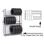 "4 Tier Double Entry Tire Rack 60""W x 54""D x 120""H"