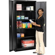 Global™ Storage Cabinet Assembled 36x18x78 Black