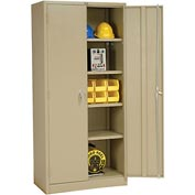 Global™ Storage Cabinet Assembled 36x18x78 Tan