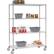 Nexel® Stainless Steel Wire Shelf Truck 36x24x80 1200 Lb. Capacity