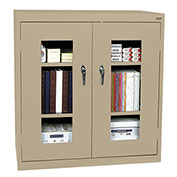 Sandusky Clear View  Counter Height Cabinet CA2V362442 - 36x24x42, Sand