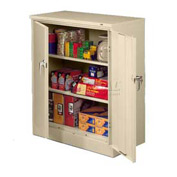 Tennsco Counter Height Metal Storage Cabinet 4218 216  - Welded 36x18x42 Champagne Putty