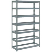 "Extra Heavy Duty Shelving 48""W x 24""D x 84""H With 7 Shelves, No Deck"
