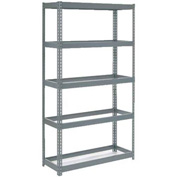 "Extra Heavy Duty Shelving 48""W x 18""D x 96""H With 5 Shelves, No Deck"