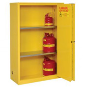 "Global Flammable Cabinet - 90 Gallon - Manual Close Bi-Fold Single Door - 43""W x 34""D x 65""H"